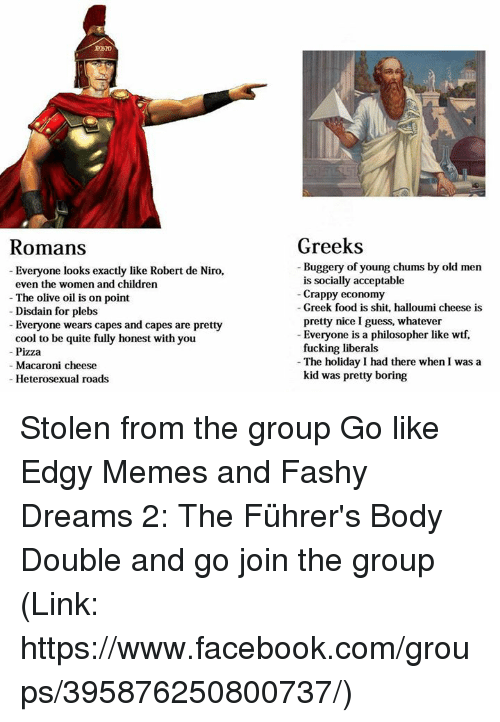 greeks vs romans Ancient greece vs ancient rome when comparing greek art was considered to be superior to that of roman art greeks lived on small wheat producing farms but.