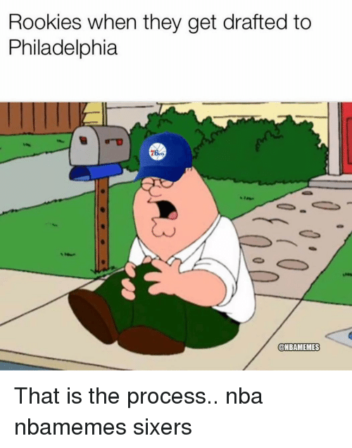 Basketball, Nba, and Sports: Rookies when they get drafted to  Philadelphia  @NBAMEMES That is the process.. nba nbamemes sixers