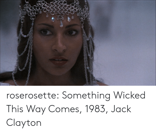 Tumblr, Blog, and Http: roserosette: Something Wicked This Way Comes, 1983, Jack Clayton