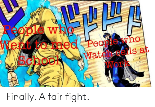 Anime, Wat, and Work: Rpwh  Went  Scpoo  eed Peantewho  Wat ells at  Work Finally. A fair fight.