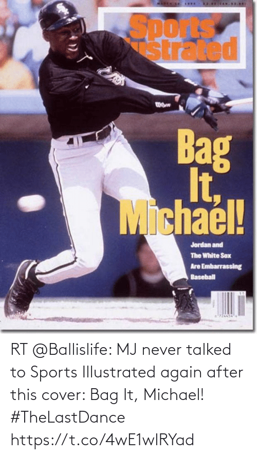 Cover: RT @Ballislife: MJ never talked to Sports Illustrated again after this cover: Bag It, Michael! #TheLastDance https://t.co/4wE1wIRYad