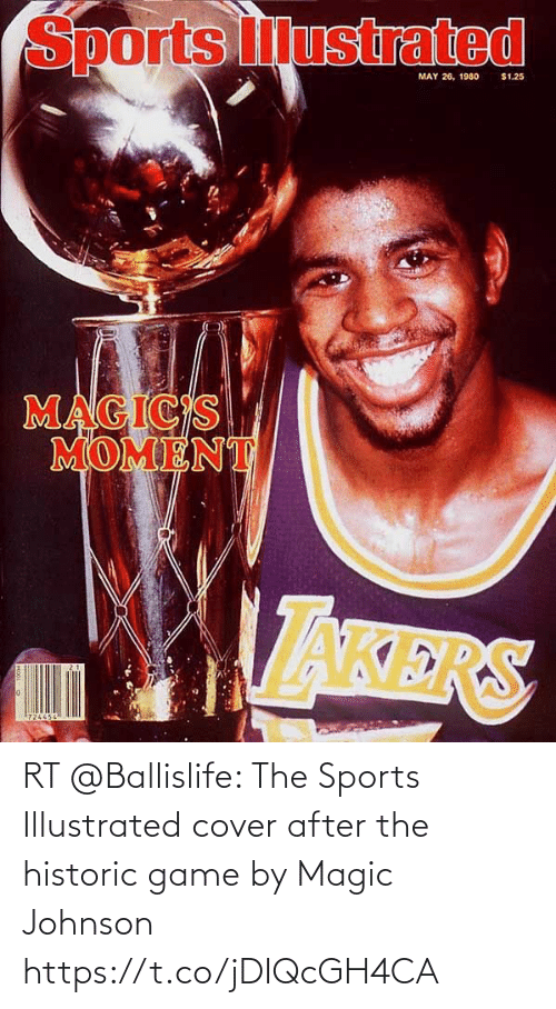 Cover: RT @Ballislife: The Sports Illustrated cover after the historic game by Magic Johnson https://t.co/jDIQcGH4CA