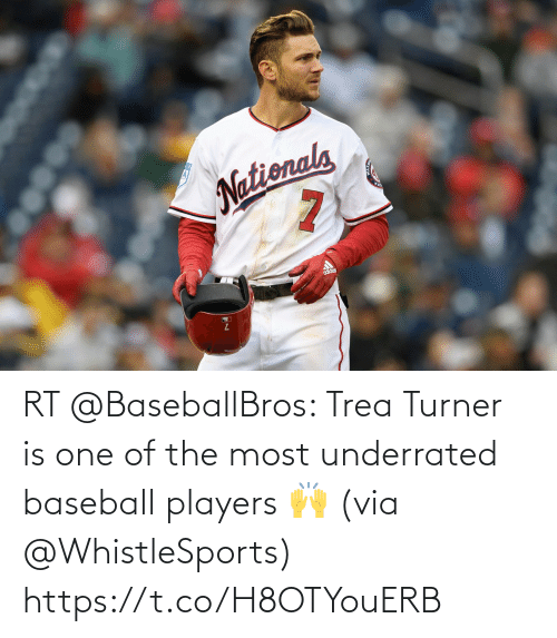 The Most: RT @BaseballBros: Trea Turner is one of the most underrated baseball players 🙌 (via @WhistleSports) https://t.co/H8OTYouERB