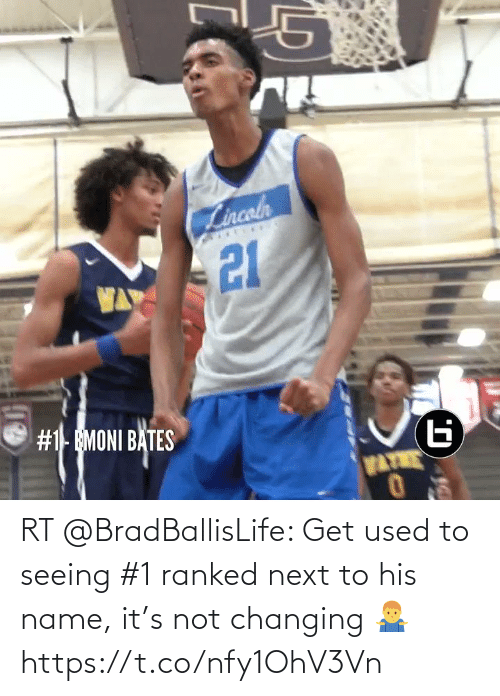 seeing: RT @BradBallisLife: Get used to seeing #1 ranked next to his name, it's not changing 🤷♂️  https://t.co/nfy1OhV3Vn