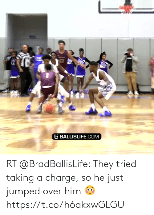 charge: RT @BradBallisLife: They tried taking a charge, so he just jumped over him 😳  https://t.co/h6akxwGLGU
