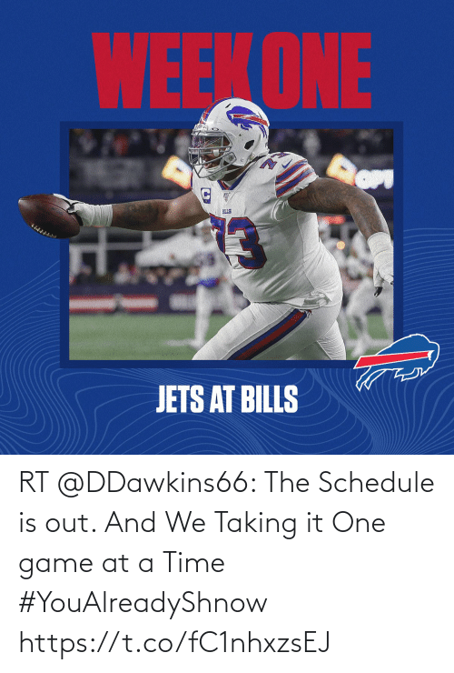 at-a-time: RT @DDawkins66: The Schedule is out. And We Taking it One game at a Time #YouAlreadyShnow https://t.co/fC1nhxzsEJ