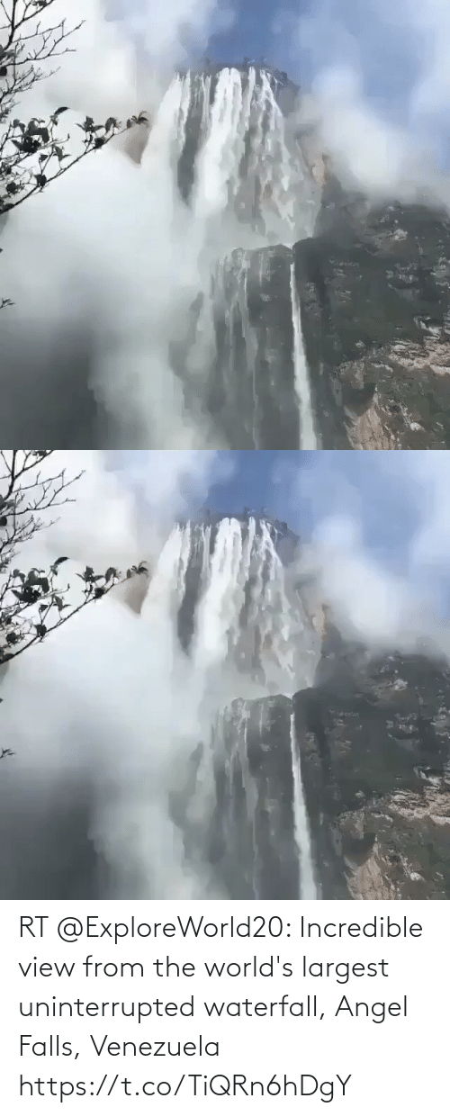 Venezuela: RT @ExploreWorld20: Incredible view from the world's largest uninterrupted waterfall, Angel Falls, Venezuela https://t.co/TiQRn6hDgY