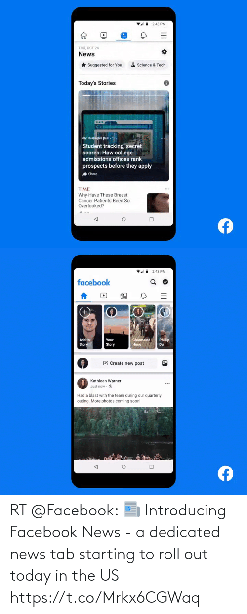 dedicated: RT @Facebook: 📰 Introducing Facebook News - a dedicated news tab starting to roll out today in the US https://t.co/Mrkx6CGWaq