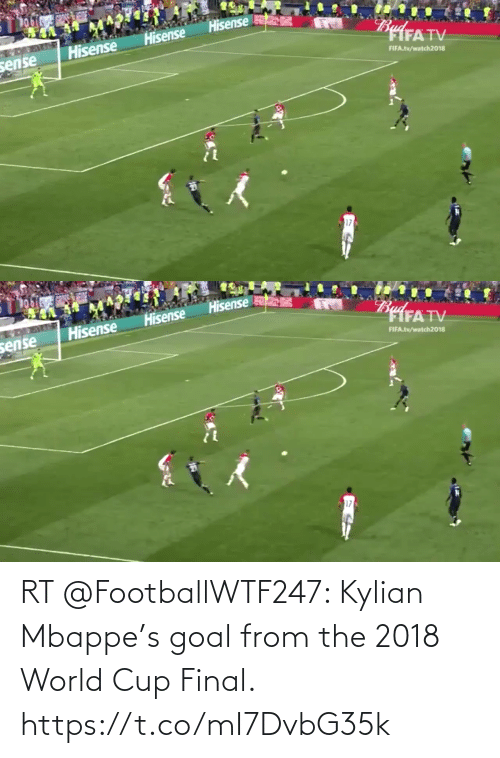 World Cup: RT @FootballWTF247: Kylian Mbappe's goal from the 2018 World Cup Final. https://t.co/mI7DvbG35k