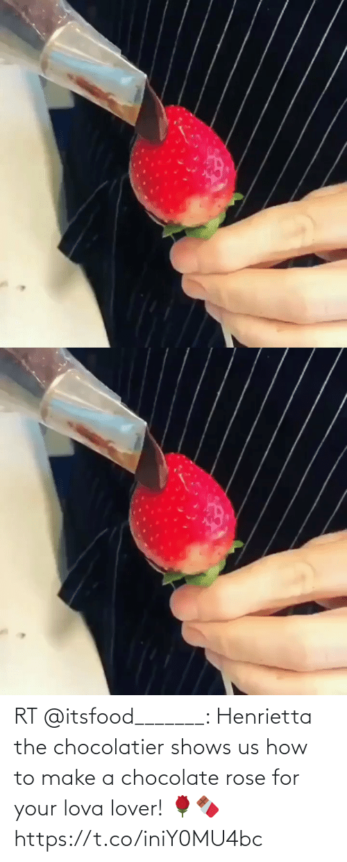 Rose: RT @itsfood_______: Henrietta the chocolatier shows us how to make a chocolate rose for your lova lover! 🌹🍫    https://t.co/iniY0MU4bc