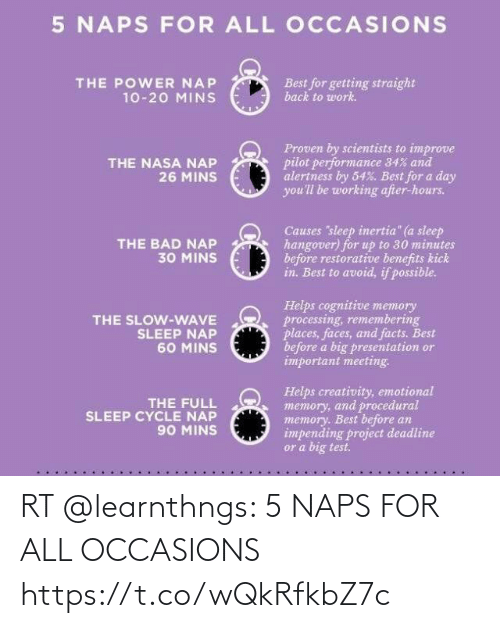 Naps: RT @learnthngs: 5 NAPS FOR ALL OCCASIONS https://t.co/wQkRfkbZ7c