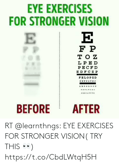 Vision: RT @learnthngs: EYE EXERCISES FOR STRONGER VISION( TRY THIS 👀) https://t.co/CbdLWtqH5H