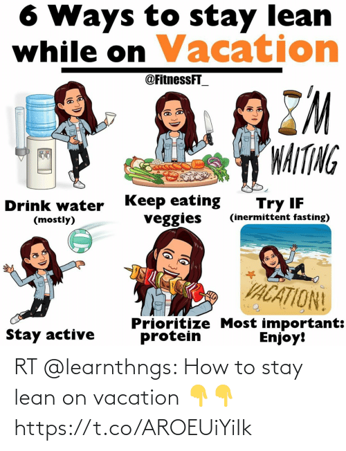 On Vacation: RT @learnthngs: How to stay lean on vacation 👇👇 https://t.co/AROEUiYiIk