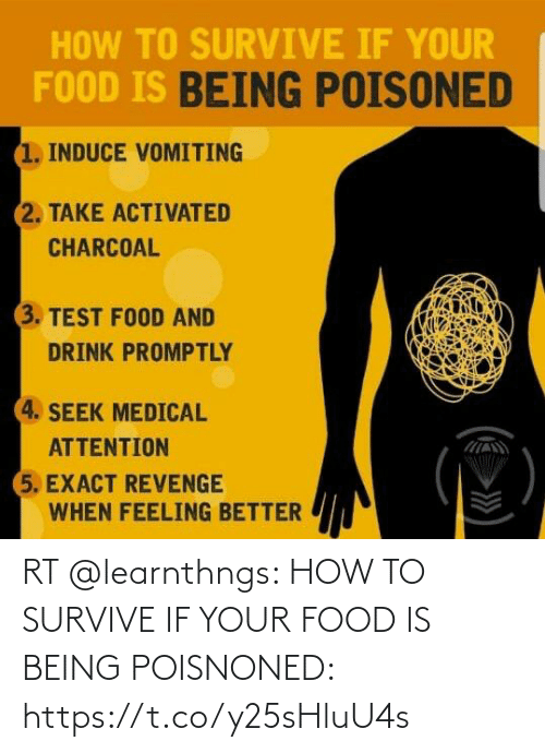 If Your: RT @learnthngs: HOW TO SURVIVE IF YOUR FOOD IS BEING POISNONED: https://t.co/y25sHluU4s