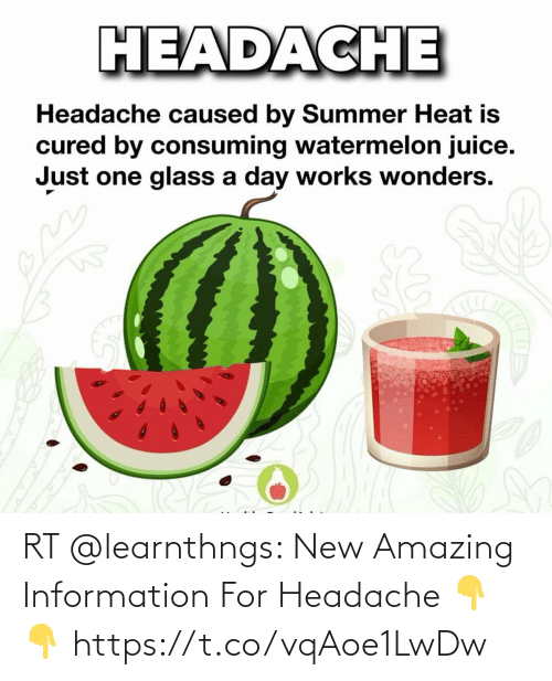 headache: RT @learnthngs: New Amazing Information For Headache 👇👇 https://t.co/vqAoe1LwDw