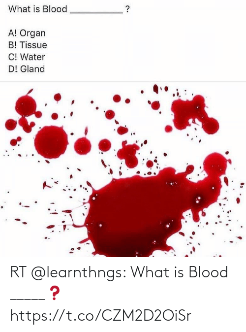 What Is: RT @learnthngs: What is Blood _____❓ https://t.co/CZM2D2OiSr