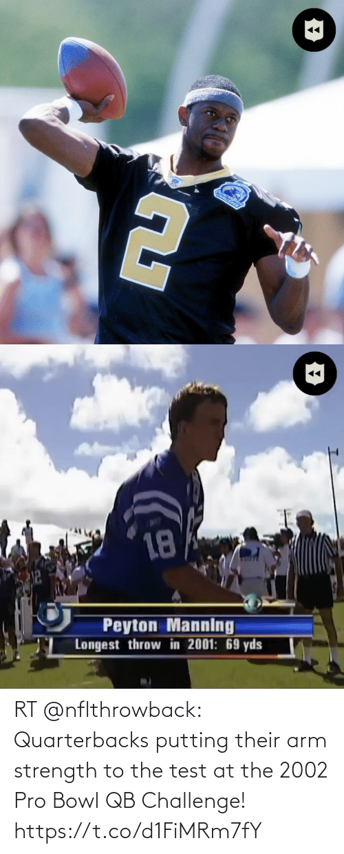 arm: RT @nflthrowback: Quarterbacks putting their arm strength to the test at the 2002 Pro Bowl QB Challenge! https://t.co/d1FiMRm7fY