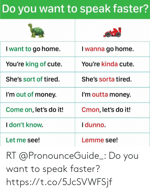 faster: RT @PronounceGuide_: Do you want to speak faster? https://t.co/5JcSVWFSjf