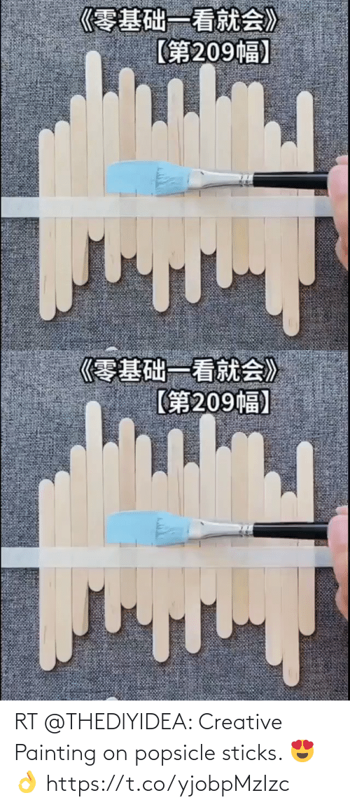 painting: RT @THEDlYIDEA: Creative Painting on popsicle sticks. 😍👌 https://t.co/yjobpMzIzc