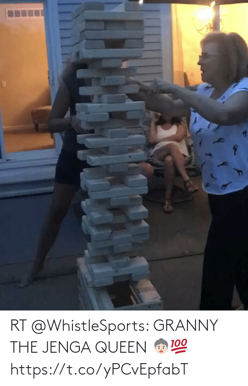 Queen: RT @WhistleSports: GRANNY THE JENGA QUEEN 👵🏻💯 https://t.co/yPCvEpfabT