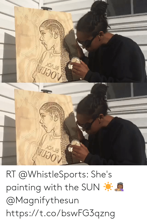 painting: RT @WhistleSports: She's painting with the SUN ☀️👩🏾🎨 @Magnifythesun https://t.co/bswFG3qzng