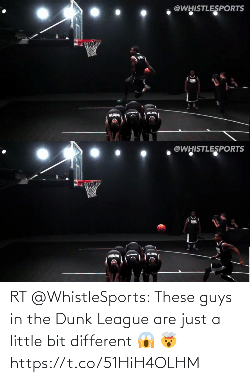 Little Bit: RT @WhistleSports: These guys in the Dunk League are just a little bit different 😱 🤯 https://t.co/51HiH4OLHM