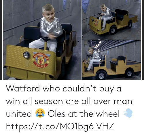 United: rue-no  UNITED Watford who couldn't buy a win all season are all over man united 😂 Oles at the wheel 💨 https://t.co/MO1bg6IVHZ