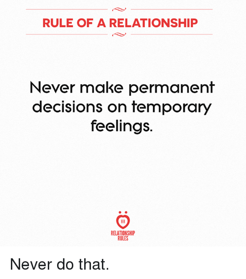 how to make a decision about a relationship