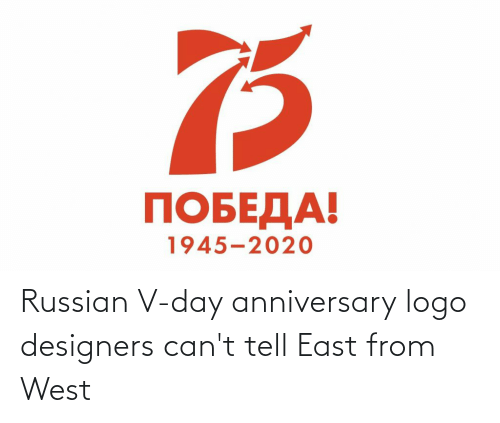east: Russian V-day anniversary logo designers can't tell East from West
