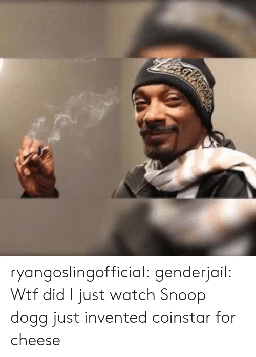 dogg: ryangoslingofficial: genderjail: Wtf did I just watch Snoop dogg just invented coinstar for cheese
