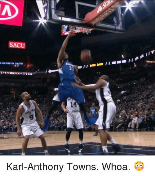 Sports, Karl-Anthony Towns, and Iis: S  II翻翻ws I I esA 1-1 es s  nos  V Karl-Anthony Towns. Whoa. 😳