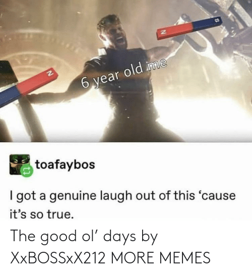 Dank, Memes, and Target: S1  EN  6 year old inme  toafaybos  I got a genuine laugh out of this 'cause  it's so true. The good ol' days by XxBOSSxX212 MORE MEMES