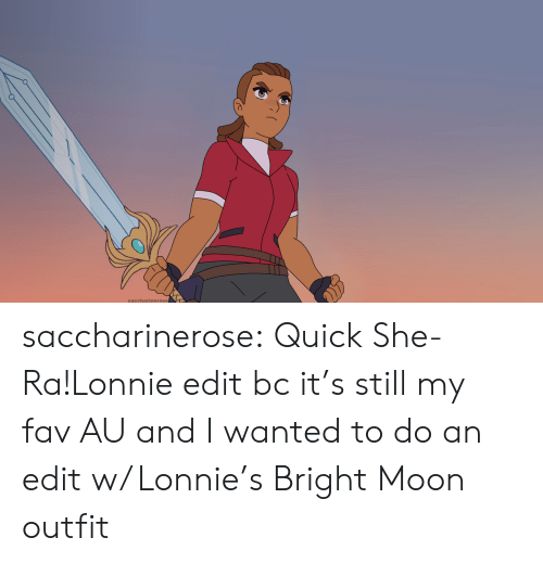 bright: saccharierose saccharinerose:  Quick She-Ra!Lonnie edit bc it's still my fav AU and I wanted to do an edit w/ Lonnie's Bright Moon outfit