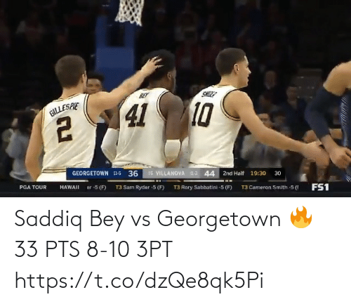 pts: Saddiq Bey vs Georgetown 🔥  33 PTS 8-10 3PT  https://t.co/dzQe8qk5Pi