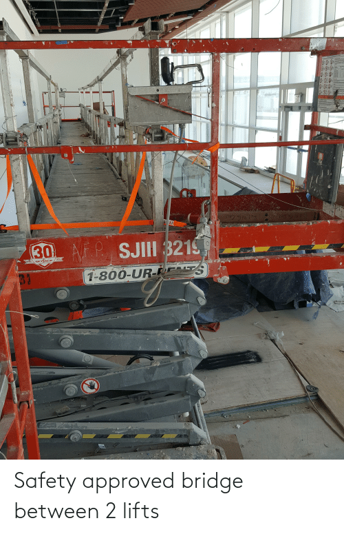 Lifts: Safety approved bridge between 2 lifts