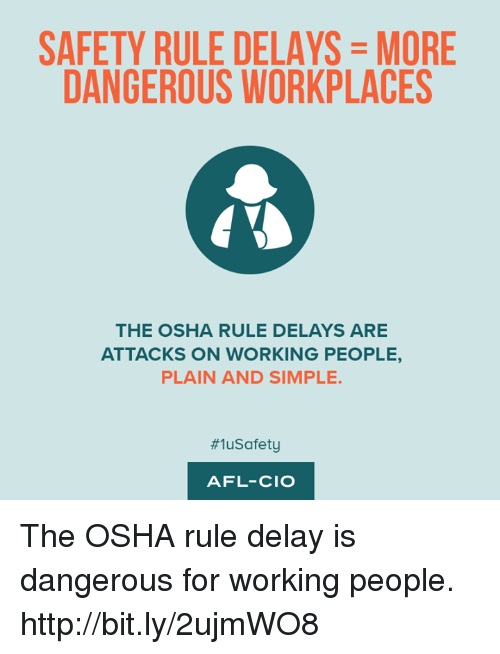 an introduction to the dangers at workplace Introduction occupational safety and health administration (osha) all employees have the right to a safe workplace the occupational safety and health act of 1970 (osh act) was passed to prevent workers from being killed or seriously injured at work.