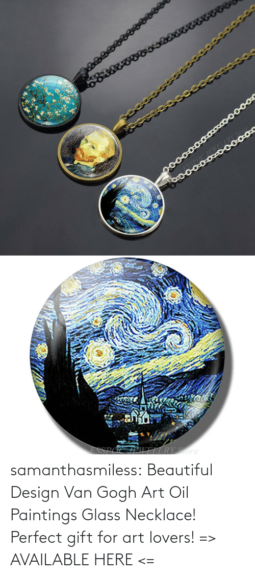 van: samanthasmiless:  Beautiful Design Van Gogh Art Oil Paintings Glass Necklace! Perfect gift for art lovers! => AVAILABLE HERE <=