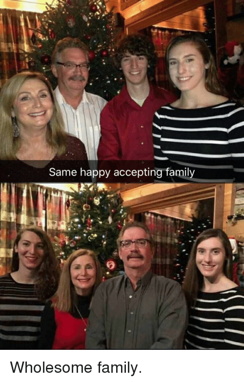 Family, Happy, and Wholesome: Same happy accepting family Wholesome family.