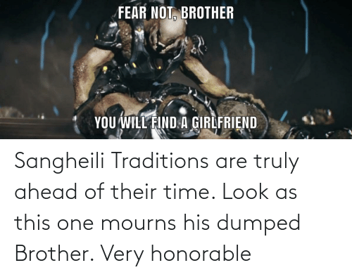 Dumped: Sangheili Traditions are truly ahead of their time. Look as this one mourns his dumped Brother. Very honorable