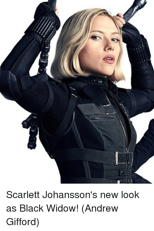 Memes, Black Widow, and Black: Scarlett Johansson's new look as Black Widow!  (Andrew Gifford)
