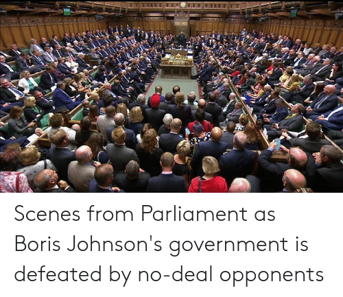 Dank, Government, and 🤖: Scenes from Parliament as Boris Johnson's government is defeated by no-deal opponents