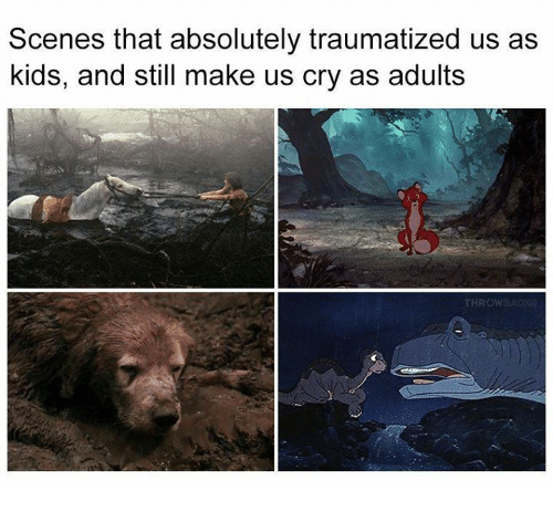 Memes, Kids, and 🤖: Scenes that absolutely traumatized us as  kids, and still make us cry as adults  THROW