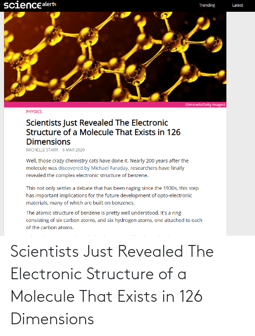 Exists: Scientists Just Revealed The Electronic Structure of a Molecule That Exists in 126 Dimensions