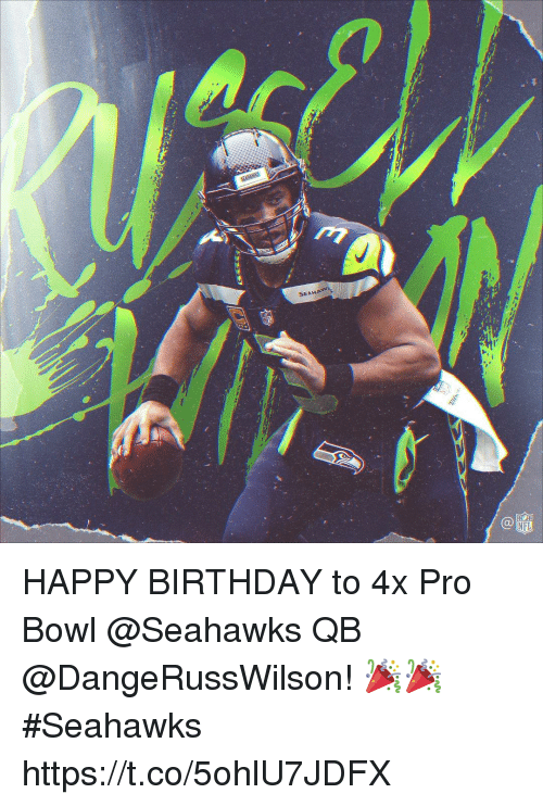 Birthday, Memes, and Nfl: SEAH  C@  NFL HAPPY BIRTHDAY to 4x Pro Bowl @Seahawks QB @DangeRussWilson! 🎉🎉  #Seahawks https://t.co/5ohlU7JDFX