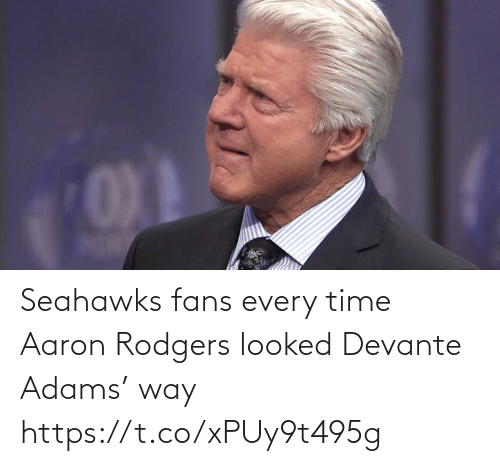 way: Seahawks fans every time Aaron Rodgers looked Devante Adams' way https://t.co/xPUy9t495g