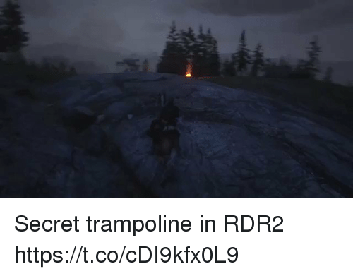 Rdr2: Secret trampoline in RDR2 https://t.co/cDI9kfx0L9