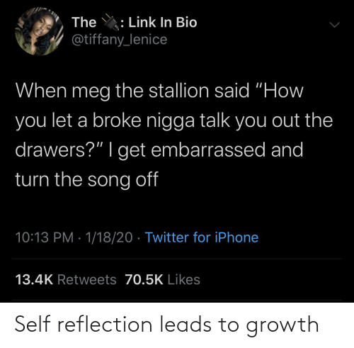 Growth: Self reflection leads to growth
