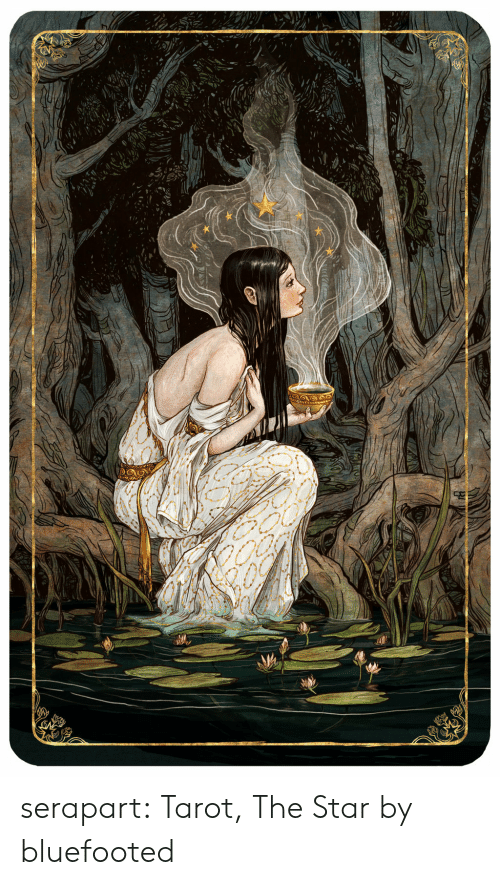 Tumblr, Blog, and Deviantart: serapart:  Tarot, The Star by bluefooted