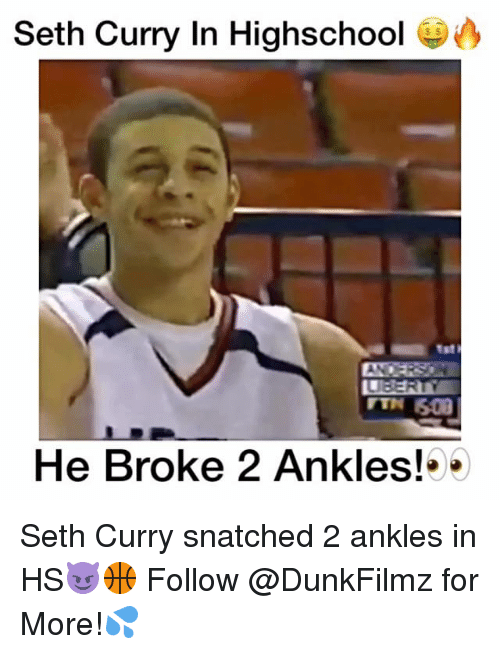 Seth Curry: Seth Curry In Highschool  He Broke 2 Ankles! Seth Curry snatched 2 ankles in HS😈🏀 Follow @DunkFilmz for More!💦