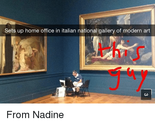 home office: Sets up home office in italian national gallery of modern art From Nadine